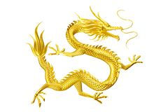 Golden Dragon lucky leader come to you with family and friends royalty free illustration