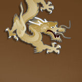 Golden dragon paper craft Stock Image