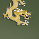 Golden dragon paper craft Royalty Free Stock Images