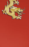 Golden dragon paper craft Stock Images