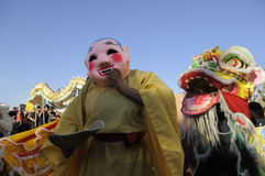 Golden Dragon Parade Royalty Free Stock Images