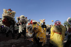 Golden Dragon Parade Stock Photo