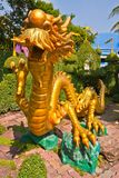 Golden Dragon in park Stock Photography