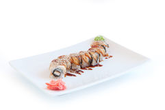Golden dragon roll Royalty Free Stock Images