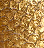Golden dragon scale background. Image idea for background Royalty Free Stock Photography
