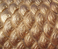 Golden dragon scales Royalty Free Stock Images