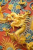 Golden dragon sculpture Royalty Free Stock Images