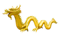 Golden Dragon sculpture Royalty Free Stock Image