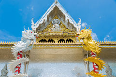 golden dragon and  silver dragon Royalty Free Stock Photography