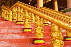 Golden dragon stairway. Of temple ,Thailand vector illustration