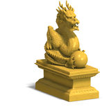Golden dragon statue Stock Image