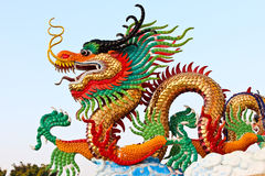 Golden dragon statue Stock Images