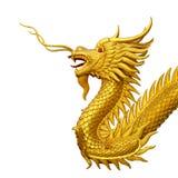 golden dragon statue Stock Photography
