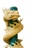 Golden dragon statue Royalty Free Stock Images