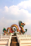 Golden dragon statue. Royalty Free Stock Photography