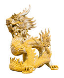 Golden dragon statue Stock Photos