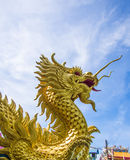 Golden dragon statue. In chinese temple Stock Image