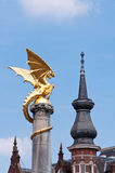 Golden Dragon Statue. In Den Bosch, The Netherlands Royalty Free Stock Images