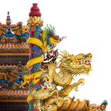 Golden dragon statue stock photography