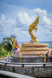 Golden dragon statue, Phuket Royalty Free Stock Photography