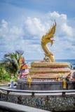 Golden dragon statue, Phuket. Thailand Royalty Free Stock Photography