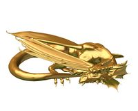 Golden Dragon Statue - sleeping Stock Photos
