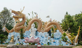 Golden Dragon statue. Royalty Free Stock Image