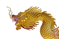 Golden Dragon Statue Royalty Free Stock Photo