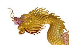 Golden Dragon Statue Royalty Free Stock Photo