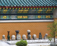 Golden dragon wall in Taoist temple Stock Photography