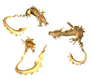 Golden dragons Royalty Free Stock Image