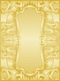 Golden dragons frame set. Golden dragon frame and banner set Royalty Free Stock Photo