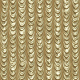 Golden draped curtains Stock Images