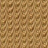 Golden drapery seamless generated texture Royalty Free Stock Image