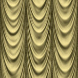 Golden drapes Stock Photo