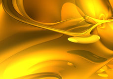 Golden dream (abstract) 04. A Study of Form&Colors, rendered in Bryce Royalty Free Stock Images
