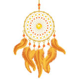 Golden Dream Catcher Royalty Free Stock Photography