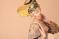 Golden dress Royalty Free Stock Image