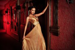Golden dress Royalty Free Stock Photos