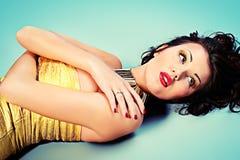 Golden dress Stock Image