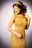 Golden dress Royalty Free Stock Photo