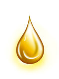 Golden drop Royalty Free Stock Photography