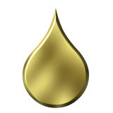 Golden Drop Royalty Free Stock Images