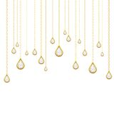 Golden drops with brilliants Royalty Free Stock Images