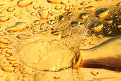 Golden drops of water. Abstract background of golden drops of water or liquid Royalty Free Stock Photos
