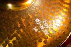 Golden drum  hi-hat Stock Photo