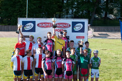 Golden Dunes 2012 bicycle race, Klaipeda Royalty Free Stock Photos