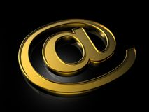 Golden e-mail symbol Royalty Free Stock Photos