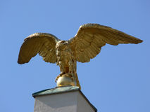 Golden eagle. Eagle placed on a column at the entrance af schoenbrunn castle in Vienna stock images