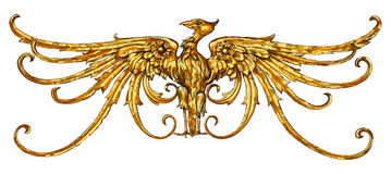 Golden Eagle - emblem - a heraldic sign Stock Image